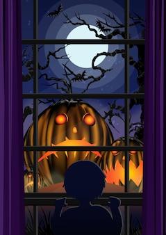 Zumbi de halloween no cemitério.