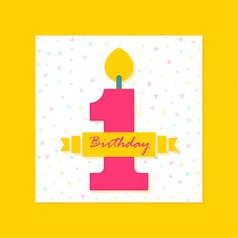 1 ° compleanno banner design