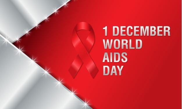 1 ° dicembre, manifesto della giornata mondiale dell'aids.