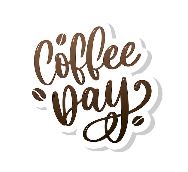 1 ° ottobre lettering internazionale del caffè