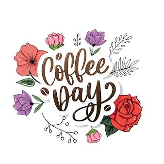 1 ottobre logo della giornata internazionale del caffè.