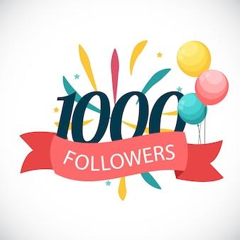 1000 seguaci. grazie sfondo