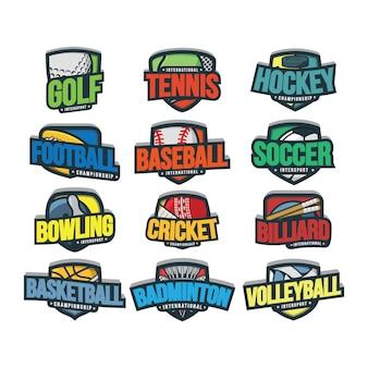 12 logo vettoriale sport