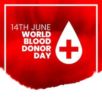 14 giugno disegno del manifesto del giorno internazionale del donatore di sangue del mondo