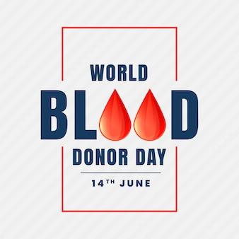 14 giugno sfondo del mondo donatore giorno