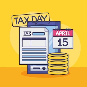 15 aprile. concetto di pagamento fiscale