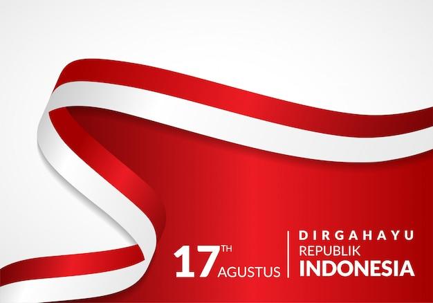 17 agosto. cartolina d'auguri felice festa dell'indipendenza dell'indonesia