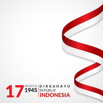 17 agosto cartolina d'auguri felice festa dell'indipendenza dell'indonesia