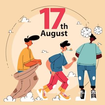 17 agosto celebrazione della festa dell'indipendenza indonesiana