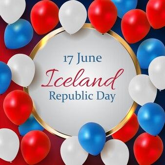 17 giugno islanda festa della repubblica. illustrazione