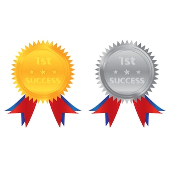 1a moneta d'argento d'oro di successo