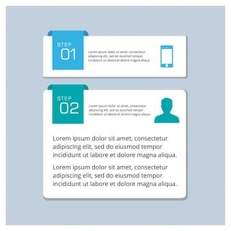 2 passi infografica templete