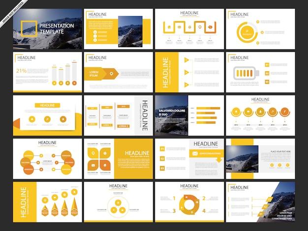 20 modelli di infografica per presentazioni in bundle