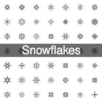 200 fiocchi di neve icona forme