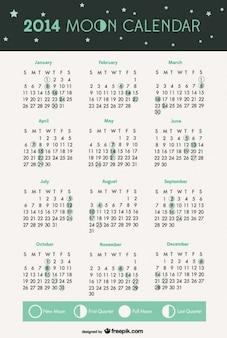 2014 fasi lunari calendario