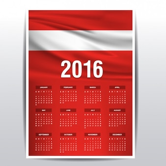 2016 calendario d'austria