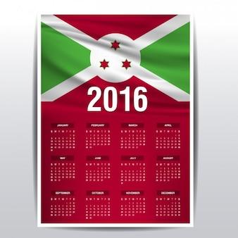 2016 del calendario del burundi