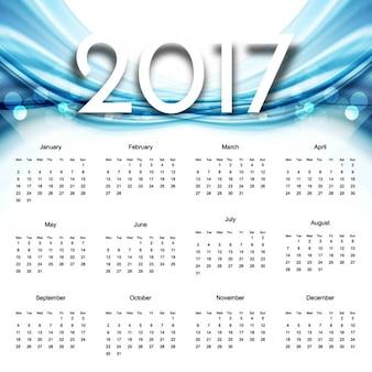2017 del calendario