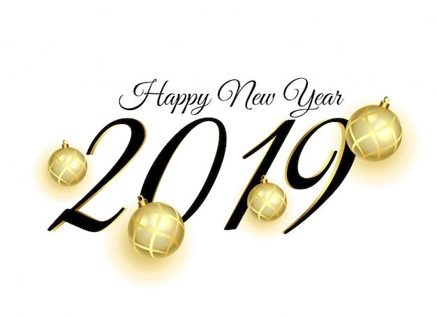 2019 design di carta felice anno nuovo