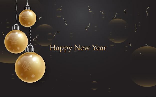 2019 felice anno nuovo con alfabeto oro su sfondo nero