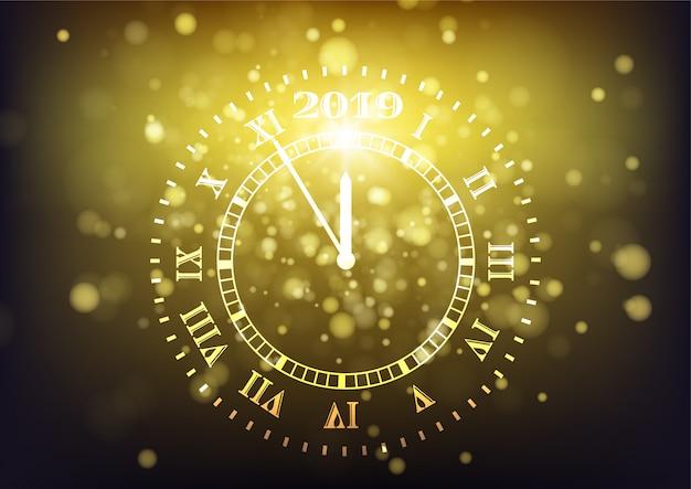 2019 felice anno nuovo sfondo. conto alla rovescia