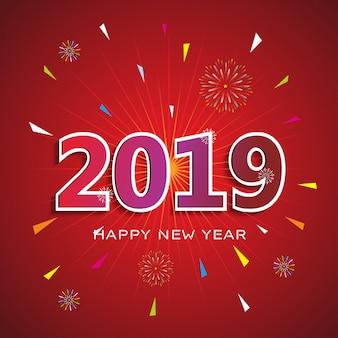 2019 felice anno nuovo sfondo rosso