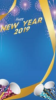 2019 felice anno nuovo sfondo