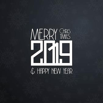 2019 nuovo anno design tipografico vettoriale