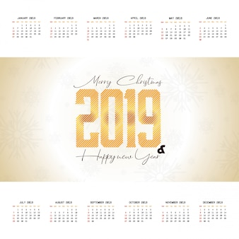 2019 progettazione del calendario di natale