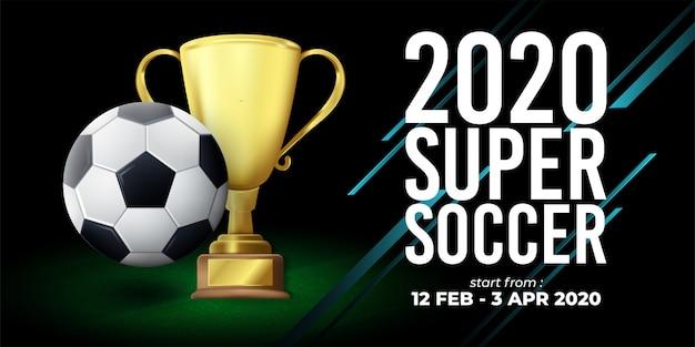 2020 soccer banner illustration