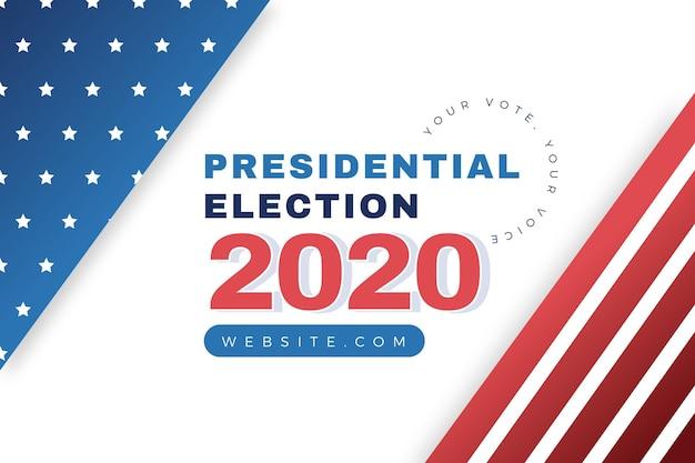 2020 stile di sfondo delle elezioni presidenziali americane