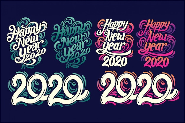 2020 stile lettering a mano