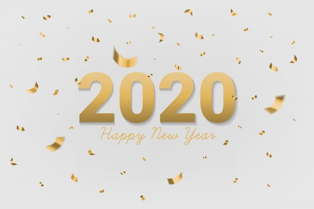 2020 testo d'oro di felice anno nuovo