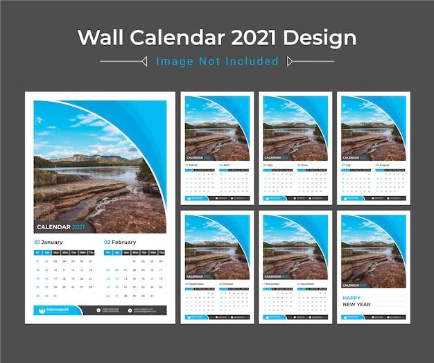 2021 calendario murale, pianificatore di date