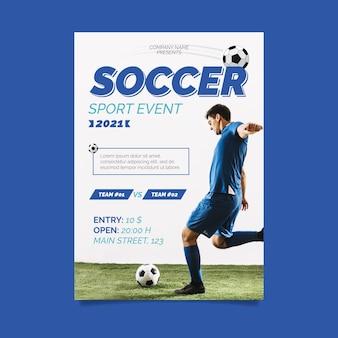 2021 concetto di poster di eventi sportivi