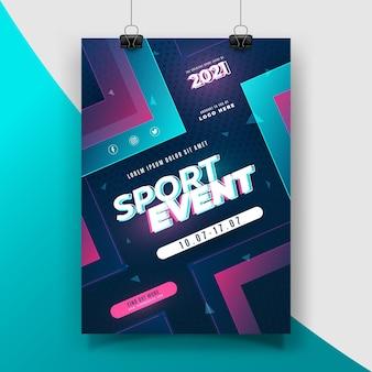 2021 tema poster evento sportivo