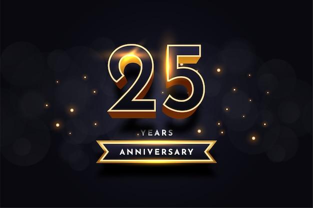 25 anni di anniversario celebrazione illustrazione modello di progettazione