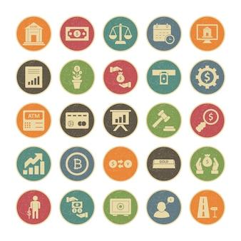 25 set di icone del settore bancario per uso personale e commerciale ...