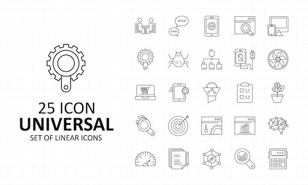 25 universal icon sheet pixel icone perfette