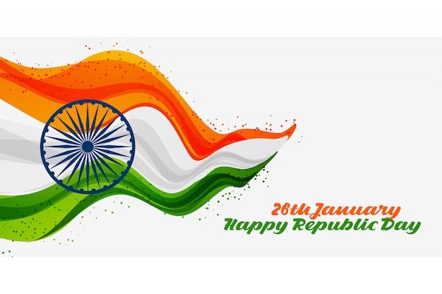 26 gennaio felice giorno della repubblica dell'india sfondo
