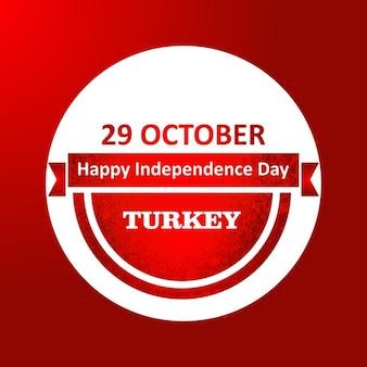 29 ottobre buon independence day turchia etichetta