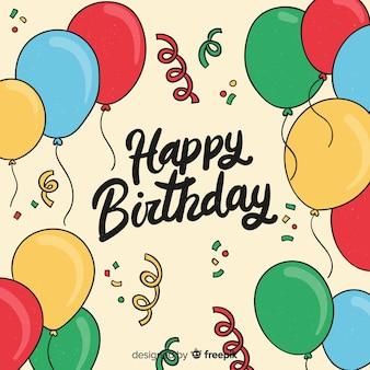 2d compleanno con palloncini sullo sfondo
