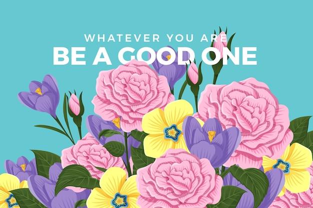 2d tema fiori vintage per carta da parati