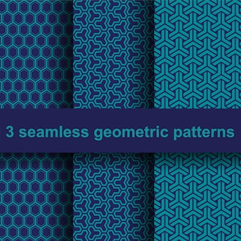 3 motivi geometrici senza soluzione di continuità.