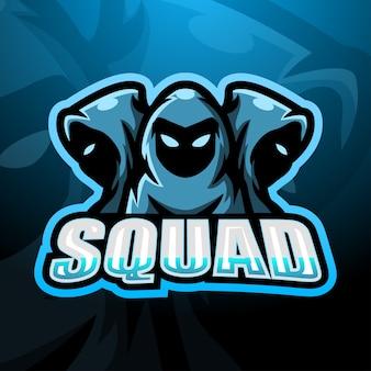3 ninja squad esport illustrazione