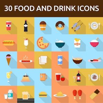 30 cibi e bevande icone