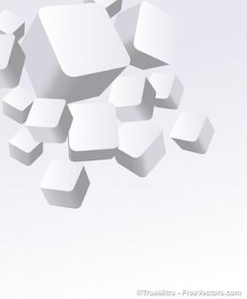 3d bianco scatole vettore