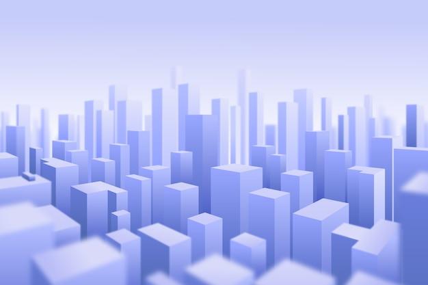 3d città moderna sullo sfondo