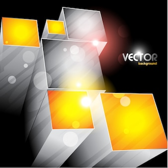 3d cubi che emergono il file vettoriale eps10