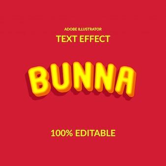 3d estrude l'effetto del testo di carattere rotondo giallo per bambino e gioia felice